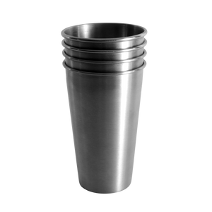 MedoCup The Gang's All Here four pack reusable steel pint cup