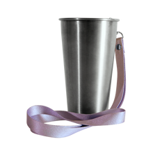 Load image into Gallery viewer, MedoCup Purple Rain reusable steel pint cup