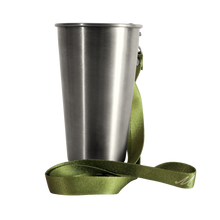 Load image into Gallery viewer, MedoCup Little Green reusable steel pint cup
