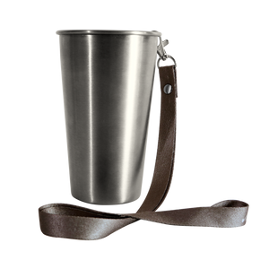 MedoCup Paint It Black reusable steel pint cup