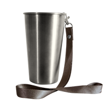 Load image into Gallery viewer, MedoCup Paint It Black reusable steel pint cup