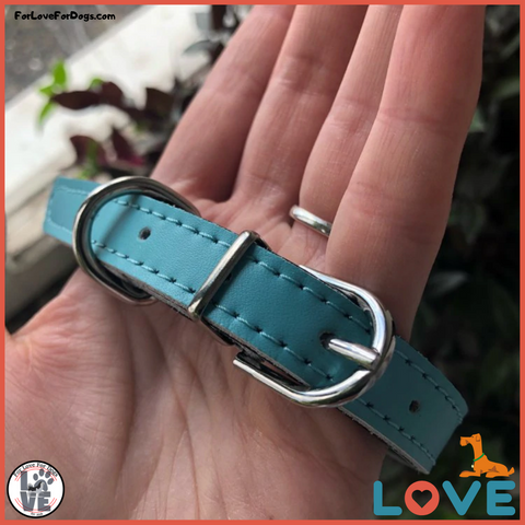 FLFD - Custom Premium Leather Collar For Small Pets jewelry forlovefordogs