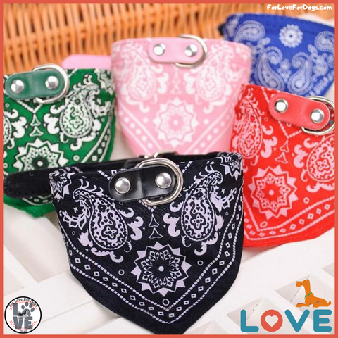 FLFD - Premium Adjustable Scarf Collar Bandana forlovefordogs for love for dogs