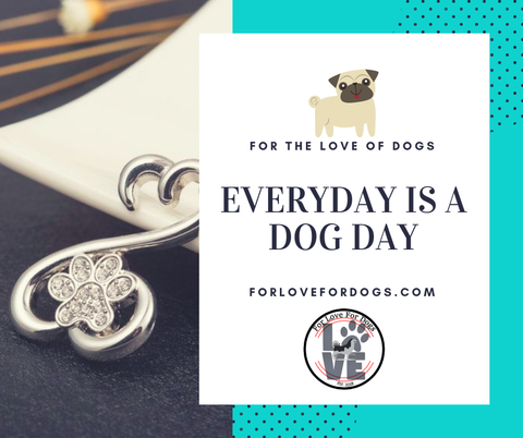 forlovefordogs for love for dogs jewelry necklace  FLFD - Crystal Paw Pendant Necklace