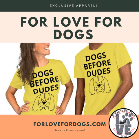 FLFD - DOGS BEFORE DUDES Short-Sleeve Unisex T-Shirt forlovefordogs for love for dogs tshirt