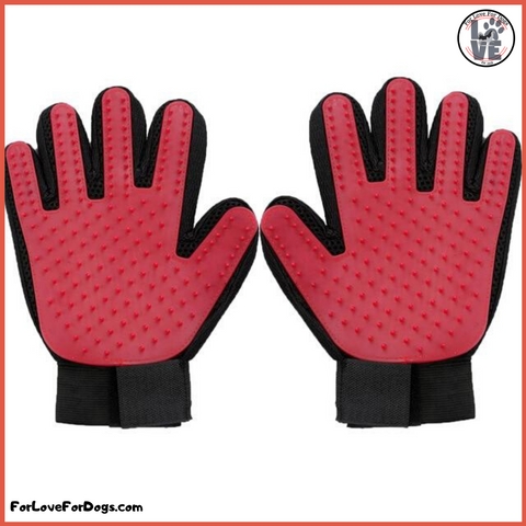 FLFD - Grooming Cleaning Glove Deshedding Left/Right Hand Hair Removal forlovefordogs for love for dogs