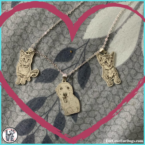 forlovefordogs for love for dogs jewelry necklace FLFD - Pet Customized Necklaces