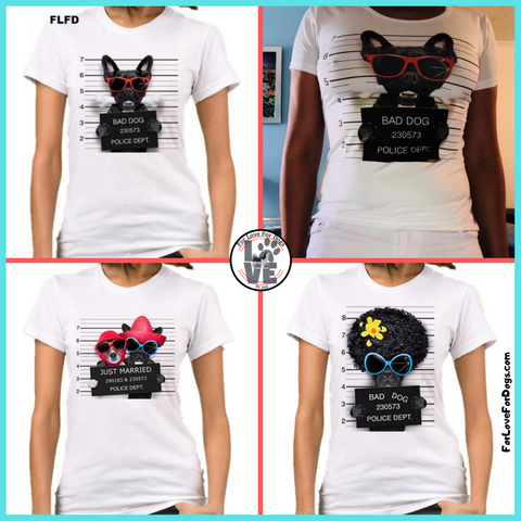 FLFD - Bad Dog Design T-Shirt Women forlovefordogs jewelry and more for love for dogs