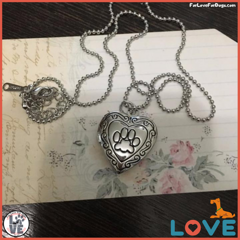 FLFD - Photo Frame Memory Locket Necklace forlovefordogs for love for dogs