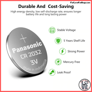 FLFD - Panasonic CR2032 3v Button Cell Coin Batteries