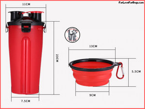 FLFD - 2-In-1 Pet Travel Water & Food Bottle