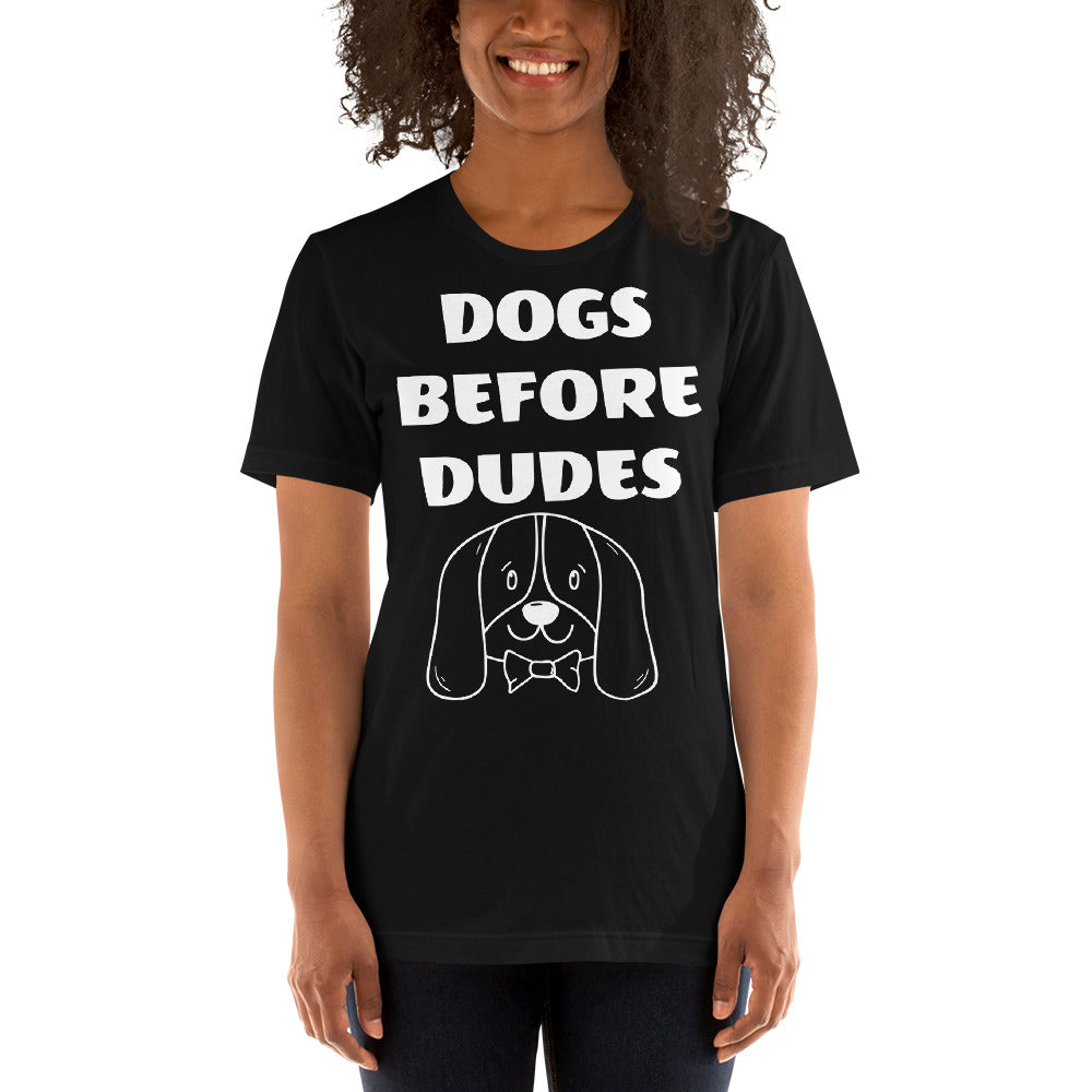FLFD - DOGS BEFORE DUDES Short-Sleeve Unisex T-Shirt