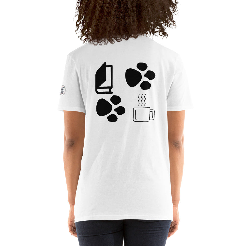 FLFD - Coffee Books Dogs & NAPS Short-Sleeve Unisex T-Shirt