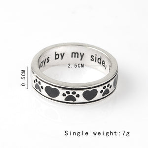 Always by my side forever in my heart perfect ring for petlovers pet lovers forlovefordogs pets dog gift for love for dogs