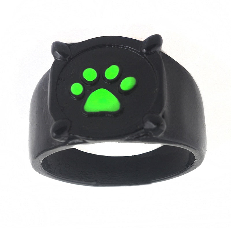 FLFD - Cartoon Green Dog Paw Ring
