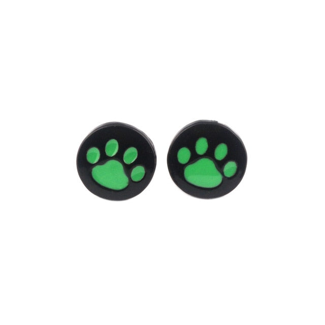 FLFD - Junior Earring Cartoon Green Dog Paw