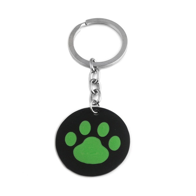 FLFD - Keychain Cartoon Green Dog Paw