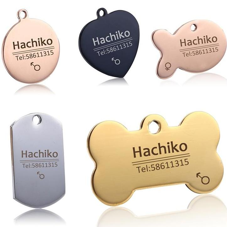 FLFD - Pet ID Tags in Stainless Steel