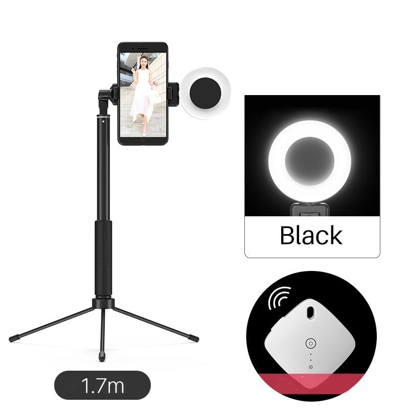 3 in 1 Bluetooth Selfie Stick Tripod with Phone Mount LED Video Light