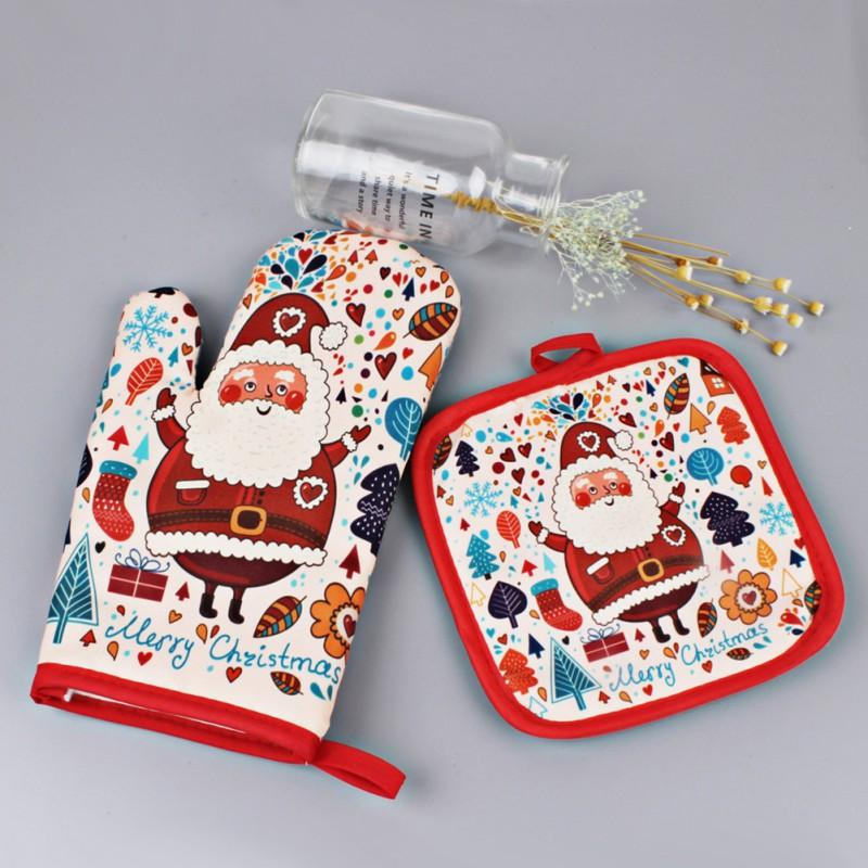 Christmas Anti-Hot Gloves and Pad for Baking - My Lifestyle Stores