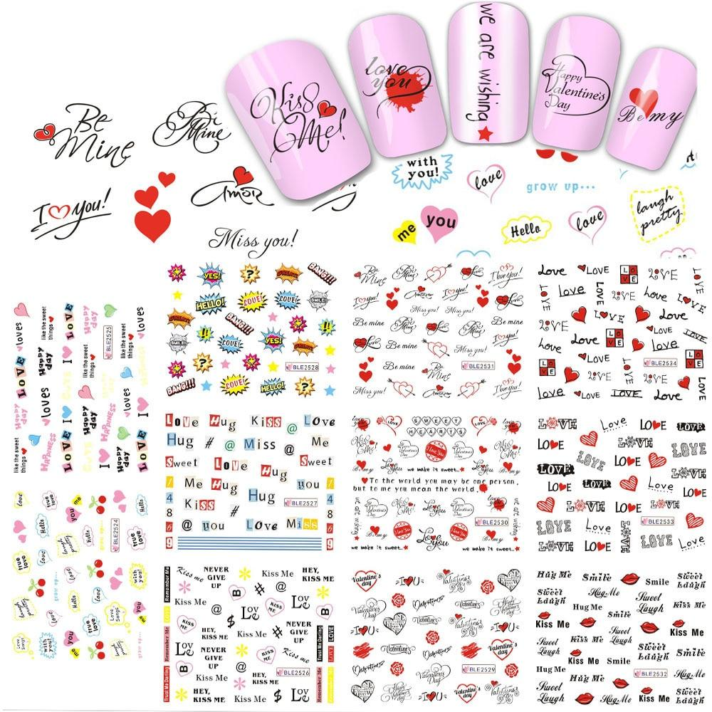 DIY Valentine Nails Decals - My Lifestyle Stores