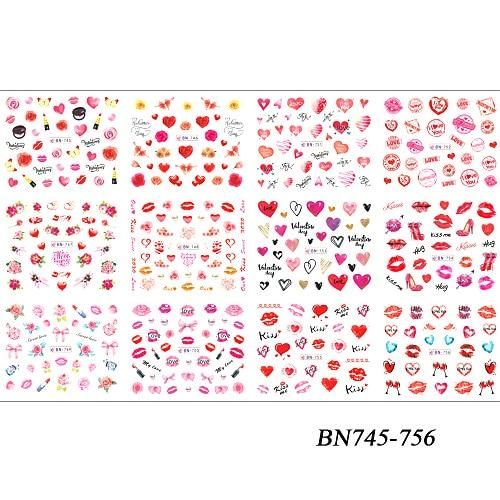 Valentine Day Nails Heart and Rose Stickers - My Lifestyle Stores