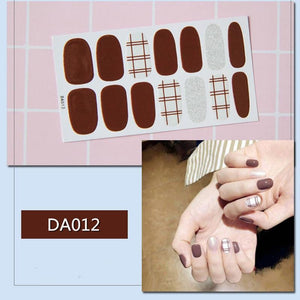 DIY valentine Day Nail Art Plain Stickers | Self Adhesive Nail Stickers - My Lifestyle Stores