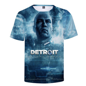 Detroit Become Human Summer Cool T shirt Men/Women Short Sleeve 3D Printed - My Lifestyle Stores