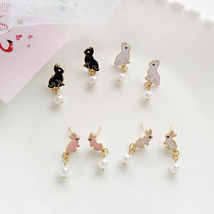 Lovely rabbit Kitty pink earrings - My Lifestyle Stores