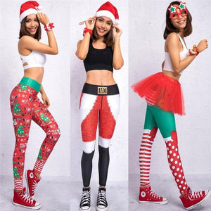 Christmas Print Leggings - My Lifestyle Stores
