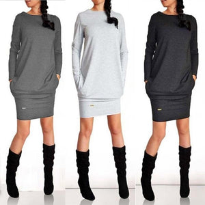 Autumn And Winter Fashion Casual Long Sleeve Dress - My Lifestyle Stores