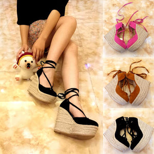 Carina canvas wedge espadrilles - My Lifestyle Stores