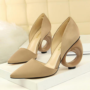 Hollow Round heel Pumps - My Lifestyle Stores