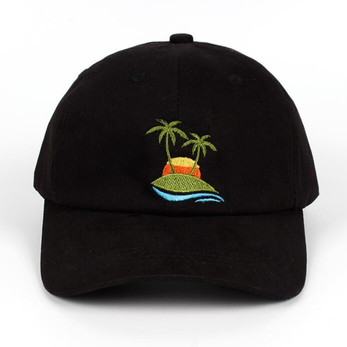 Embroidery Palm Trees Curved Cap - My Lifestyle Stores