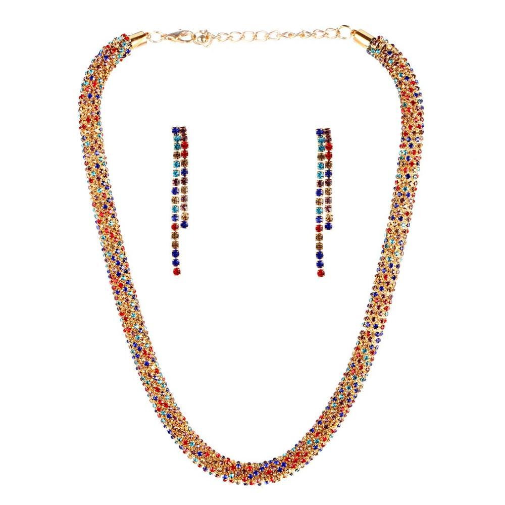 Nigerian Classic Crystal Twisted Necklace Set - My Lifestyle Stores
