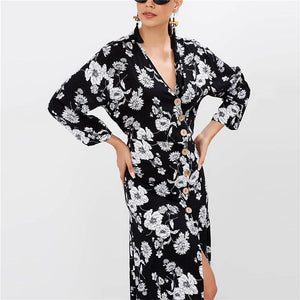 Boho Floral Print Long Dress - My Lifestyle Stores