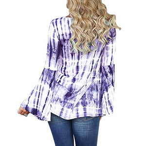 Criss Cross V Neck Tie Dye Shirt - My Lifestyle Stores