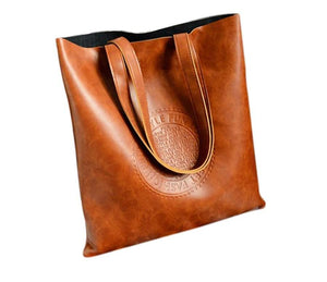 PU Leather Crossbody Tote Bag