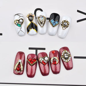 DIY 3D Glitter Nail Designs Decorations - Crystal Retro Jewelry Diamonds - My Lifestyle Stores