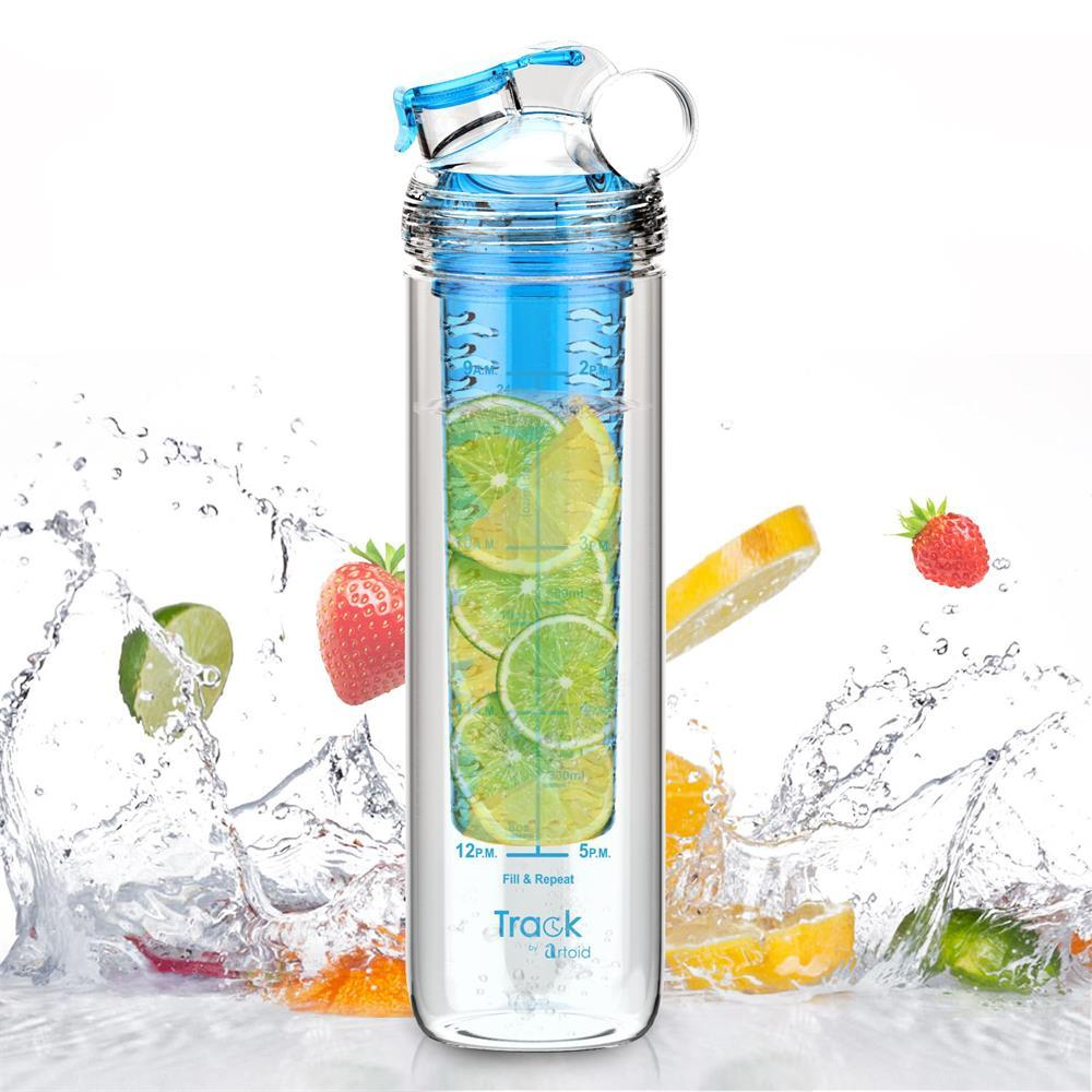 Fruit Infuser Bottle with Time Marker For Measuring Your H2O Intake - My Lifestyle Stores