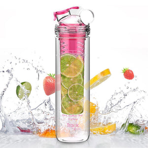 Fruit Infuser Bottle with Time Marker For Measuring Your H2O Intake
