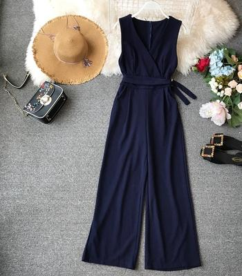 Sleeveless Sash Jumpsuit - My Lifestyle Stores
