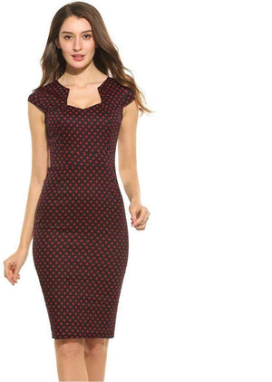 Polka Dot Pencil Dress - My Lifestyle Stores