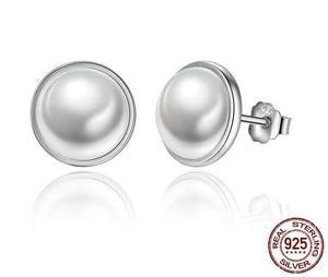 925 Sterling Silver Round White Pearl Stud - My Lifestyle Stores