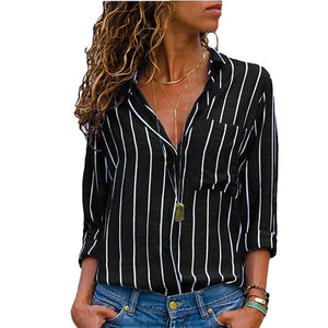 Striped Long Sleeves Top - My Lifestyle Stores