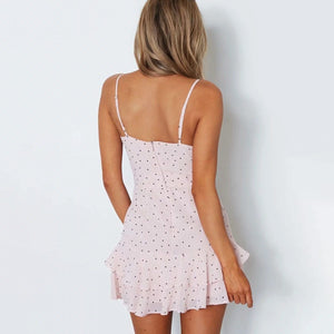 Boho Polka Dot Mini Dress - My Lifestyle Stores