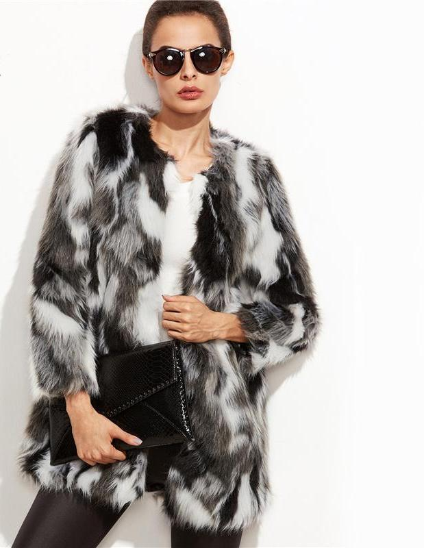 Front Open Faux Fur Fuzzy Coat - My Lifestyle Stores