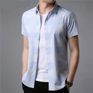 Short Sleeves Plaid Shirt - My Lifestyle Stores