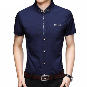 Turn-down Collar Floral Pocket Shirt - My Lifestyle Stores