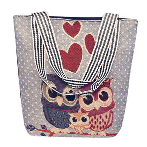 Owl Pattern Handbag | Tote Bag - My Lifestyle Stores